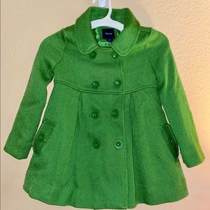 Gap Kids • Kelly Green Pea Coat (XS)